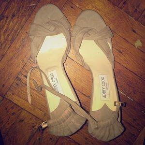 Jimmy chop suede heels size 41/11